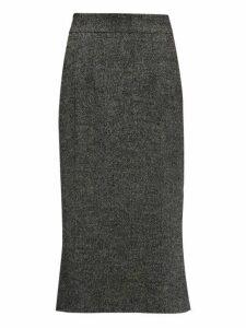 Dolce & Gabbana - Fluted Wool-blend Tweed Skirt - Womens - Grey