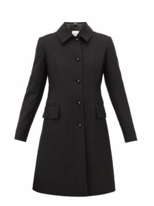 Burberry - Angus Single Breasted Wool Blend Coat - Womens - Black
