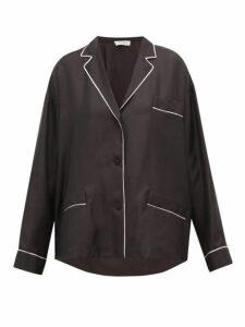 Valentino - Silk Pyjama Blouse - Womens - Black White