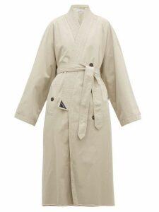 Balenciaga - Judo Cotton-gabardine Trench Coat - Womens - Beige
