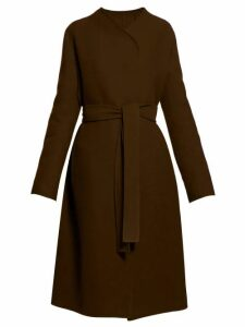 The Row - Terin Belted Wool Blend Coat - Womens - Green