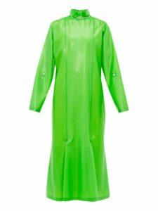 Christopher Kane - Gathered Latex Midi Dress - Womens - Green