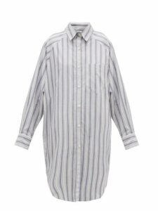 Isabel Marant Étoile - Sanders Striped Cotton Shirt Dress - Womens - Light Blue