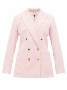 Bella Freud - Bianca Double Breasted Corduroy Blazer - Womens - Pink