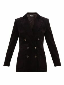 Bella Freud - Bianca Double Breasted Cotton Corduroy Blazer - Womens - Black
