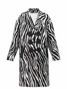 Andrew Gn - Zebra Jacquard Evening Coat - Womens - White Black