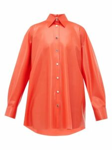 Christopher Kane - Latex Blouse - Womens - Red
