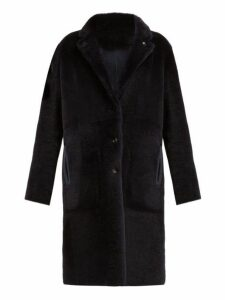 Joseph - Brittany Reversible Shearling Coat - Womens - Navy