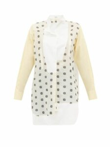 Loewe - Anagram Broderie Anglaise Cotton Shirt - Womens - White Multi