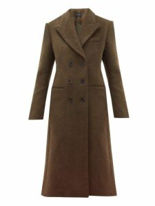 Isabel Marant - Roleen Virgin Wool Blend Double Breasted Coat - Womens - Khaki