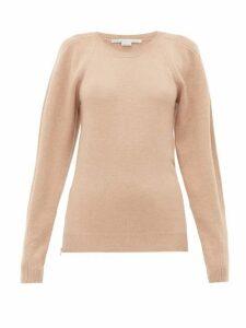 Stella Mccartney - Side Zip Wool Sweater - Womens - Beige