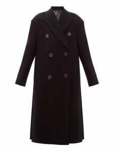 Acne Studios - Octania Oversized Double Breasted Wool Blend Coat - Womens - Black