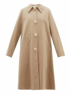 Acne Studios - Olympe Oversized Cotton Twill Coat - Womens - Beige