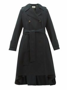 Acne Studios - Olwen Double Breasted Trench Coat - Womens - Dark Green