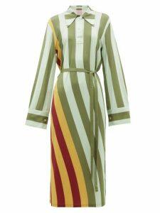 Jw Anderson - Striped Polo Neck Midi Dress - Womens - Multi