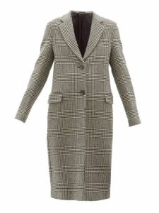 Officine Générale - Eden Prince Of Wales Checked Wool Coat - Womens - Black White