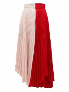 A.w.a.k.e. Mode - Double Trouble Doric Pleated Crepe Midi Skirt - Womens - Multi