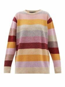 The Elder Statesman - Oversized Striped Cashmere Sweater - Womens - Multi
