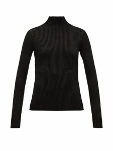Versace - High Neck Ribbed Sweater - Womens - Black