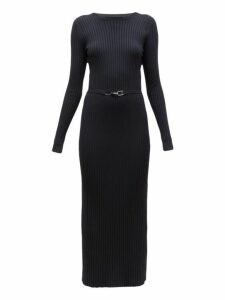 Gabriela Hearst - Luisa Avalon Belted Wool Blend Sweater Dress - Womens - Black