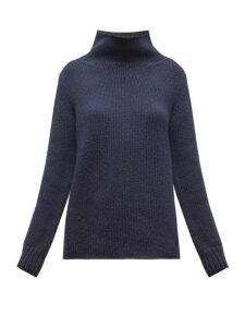 Gabriela Hearst - Velimir High Neck Cashmere Sweater - Womens - Navy