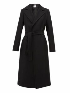 Pallas X Claire Thomson-jonville - Franklin Single Breasted Wool Blend Coat - Womens - Black