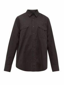 Wardrobe. nyc - Patch Pocket Cotton Shirt - Womens - Black