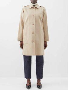 Frame - Le Mid V Neck Cotton T Shirt - Womens - Grey
