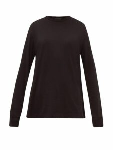 Wardrobe. nyc - Long Sleeve Cotton Jersey T Shirt - Womens - Black
