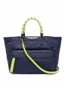 Anya Hindmarch - Neon Bungee Handle Nylon Tote Bag - Womens - Navy Multi