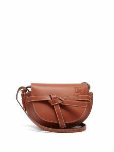 Loewe - Gate Mini Leather Cross Body Bag - Womens - Brown