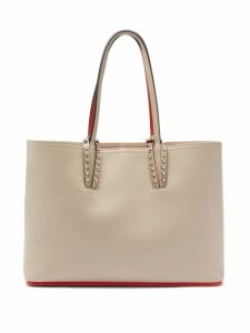 Christian Louboutin - Cabata Small Grained Leather Tote Bag - Womens - Beige Multi