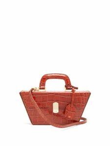 Hillier Bartley - Cassette Crocodile Effect Leather Bag - Womens - Orange