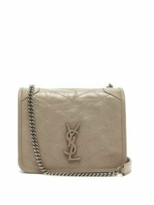 Saint Laurent - Niki Mini Vintage Effect Leather Cross Body Bag - Womens - Beige