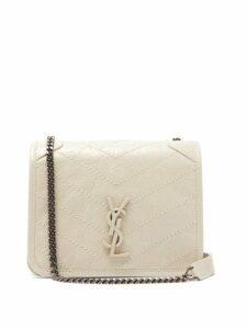 Saint Laurent - Niki Mini Leather Cross Body Bag - Womens - White
