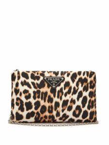 Prada - Leopard Print Nylon Cross Body Bag - Womens - Leopard
