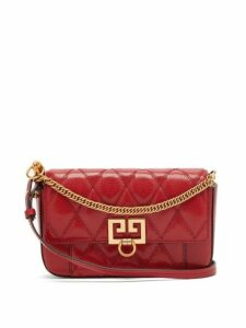 Givenchy - Gv3 Mini Leather Cross Body Bag - Womens - Red