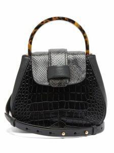 Nico Giani - Myria Mini Crocodile Effect Leather Bag - Womens - Black