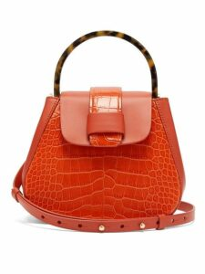 Nico Giani - Myria Mini Crocodile Effect Leather Cross Body Bag - Womens - Orange