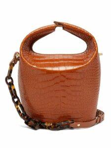 Nico Giani - Kalea Croc Effect Bucket Bag - Womens - Tan