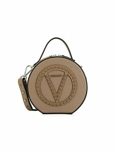Marion Studded Leather Circle Bag