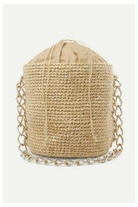 Carolina Santo Domingo - Small Woven Mohair And Raffia Bucket Bag - White