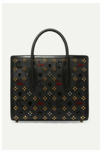 Christian Louboutin - Paloma Medium Embellished Textured-leather Tote - Black