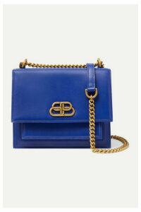 Balenciaga - Sharp S Leather Shoulder Bag - Bright blue
