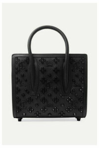 Christian Louboutin - Paloma Mini Embellished Textured-leather Tote - Black