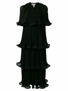 Stella McCartney tiered lettuce-hem dress - Black