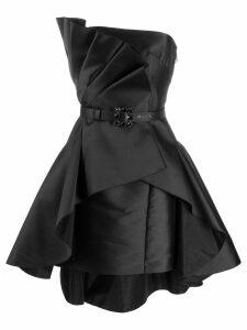 Alberta Ferretti pleated sleeveless dress - Black