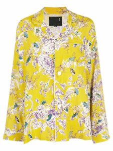 R13 oversized floral print shirt - Yellow