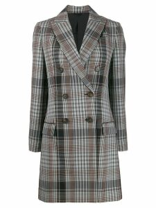Brunello Cucinelli plaid double-breasted coat - Black