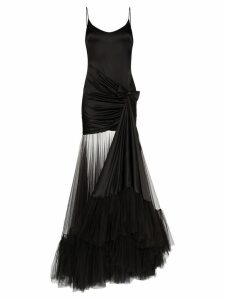 Alessandra Rich tulle train gown - Black